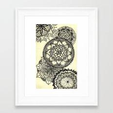 Mandala Cascade Framed Art Print