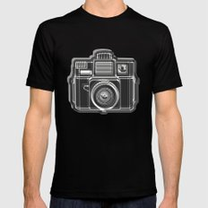 I Still Shoot Film Holga Logo - Black and White SMALL Black Mens Fitted Tee