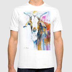 Goat 2 SMALL Mens Fitted Tee White