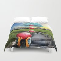 Interspatial Field Duvet Cover