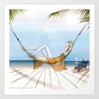 Chill, Relax, It's Summe… Art Print