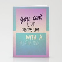 Positive Life  Stationery Cards