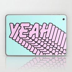 YEAH Typography Pink Blue Laptop & iPad Skin