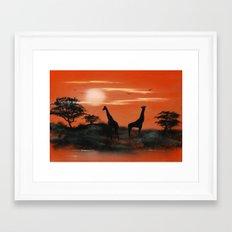 Serengeti Sunset Framed Art Print