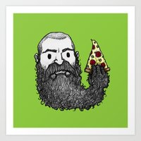 Beard Slice Art Print