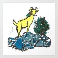 Goatie McGoatersons (col… Art Print