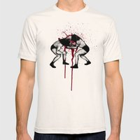 Bull vs Bear Mens Fitted Tee Natural SMALL
