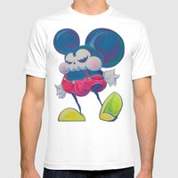 Fatty Skinny Mickey Skul… Mens Fitted Tee White SMALL