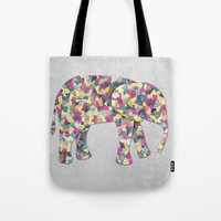 Elephant Collage In Gray… Tote Bag