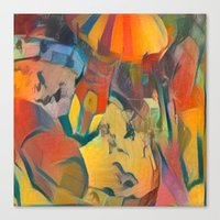 abstract Carnival ride Canvas Print
