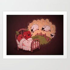 sleepsheep (counting them doesn't always help) Art Print