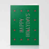 Happy Hollydays Stationery Cards