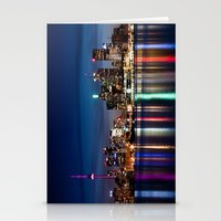 Toronto Skyline At Night From Polson St No 2 Stationery Cards
