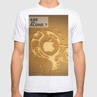 Are We Alone ? Mens Fitted Tee Ash Grey SMALL