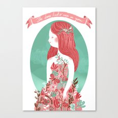 The dress looks nice on you Canvas Print