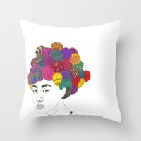 Fashion Illustration 3  Throw Pillow