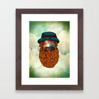 finding galaxy Framed Art Print