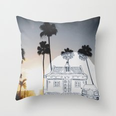Pencil Sunset Throw Pillow