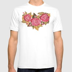 With The Roses Mens Fitted Tee SMALL White
