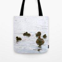 Ducklings In The Water Tote Bag