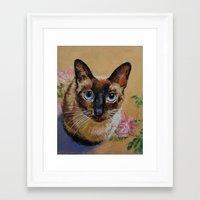 Siamese Cat Framed Art Print