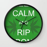 Keep Calm And Rip A Bong Wall Clock