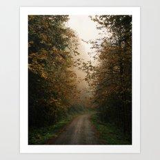 Oregon Fall Road Art Print