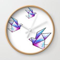 Origami Pastels Wall Clock