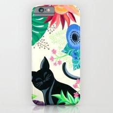 Natures Confetti Cat  iPhone 6s Slim Case