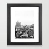 Lower East Side Skyline … Framed Art Print