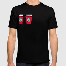 Merry Christmas Mens Fitted Tee Black SMALL