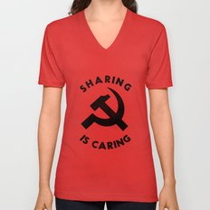 Sharing Is Caring Unisex V-Neck