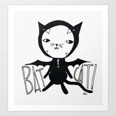 Bat Cat! Art Print