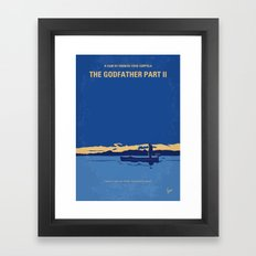 No686-2 My Godfather II minimal movie poster Framed Art Print