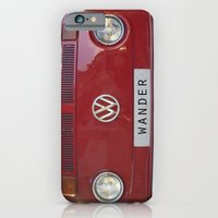 iPhone Cases featuring Wander wolkswagen. Summer dreams. Red by Guido Montañés