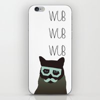 dubstep cat iPhone & iPod Skin