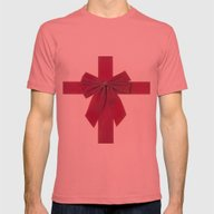 Ribbon Mens Fitted Tee Pomegranate SMALL