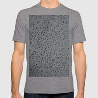 Water Beads Mens Fitted Tee Tri-Grey SMALL