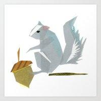 Cornelius Squirrel Art Print