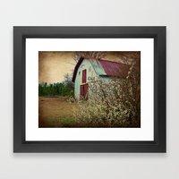 Happy Old Barn Framed Art Print