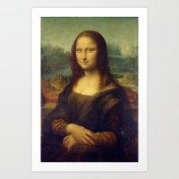 Leonardo Da Vinci - Mona… Art Print