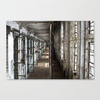 Cell Block, inside the Mansfield Reformatory  Canvas Print