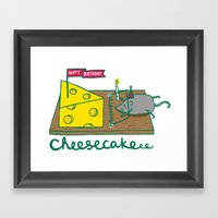 Cheesecake Framed Art Print