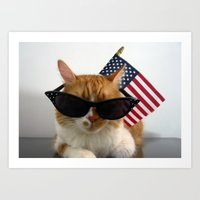PAWSitively Patriotic Art Print