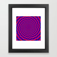Red And Blue Spiral Framed Art Print