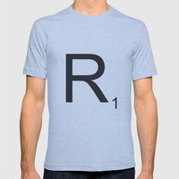 Scrabble R Mens Fitted Tee Athletic Blue SMALL