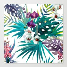 Tropical Watercolor Pattern Canvas Print