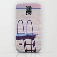 Galaxy S5 Cases featuring Purple Lake Sunset by Pure Nature Photos