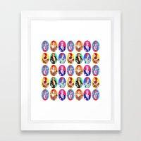 Glam Bowie Pattern  Framed Art Print