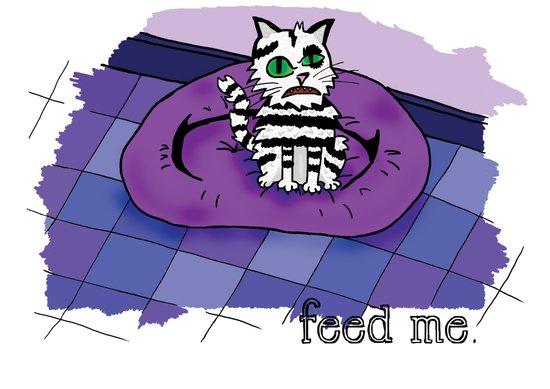 Hungry cat! Art Print
